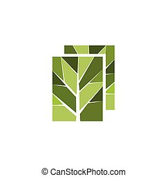 branches abstract leaf logo vector element. branches logo template