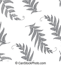 branches and leaves seamless grey