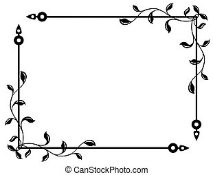 branches and leaves - pattern in the manner of branches and...