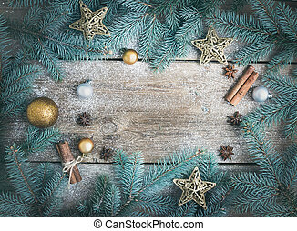 branches, background:, g, fur-tree, décoration, (new, year), noël