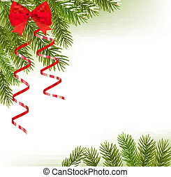 branches, chapeau, arbre, santa