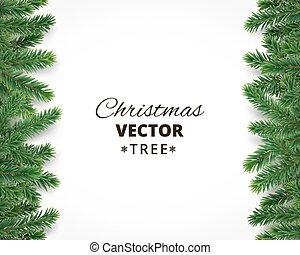 branches, espace, texte, arbre, vecteur, fond, noël