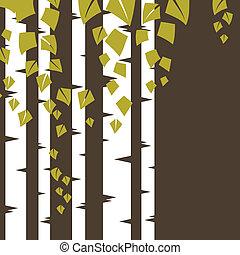 branches., fundo, vidoeiro