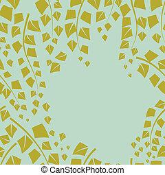 branches., hintergrund, birke