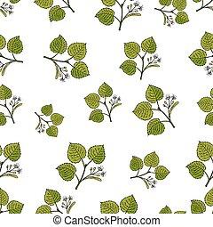 branches, modèle, arbre, seamless, main, vecteur, dessiné