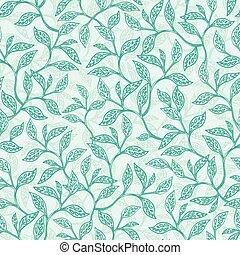 branches, modèle, seamless, texture, vecteur, arrière-plan vert