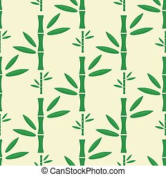 Bamboo stem seamless pattern vector illustration. - Branches...