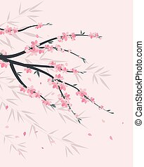 Branches with flowers