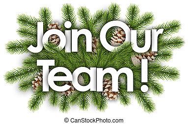 branchs, 参加しなさい, 松, 私達の, チーム, -, クリスマス, 背景