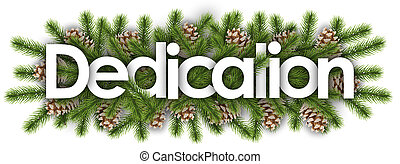 branchs, pin, -, dédicace, noël, fond