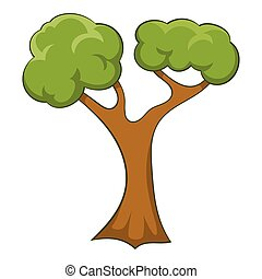 Branchy tree icon, cartoon style