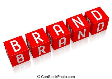 Brand - 3D cube word