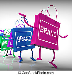 Brand Bags Represent Marketing, Brands, and Labels - Brand ...