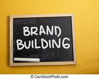 Brand Building. Business Marketing Words Typography Concept