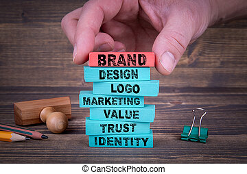 Brand Business Concept With Colorful Blocks