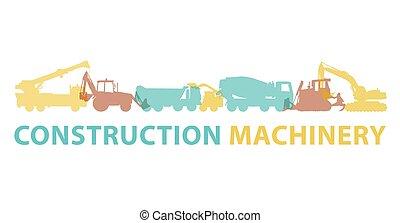 brand., chão, sinal., veículos, símbolo., maquinaria construção, trabalhos, máquinas, ícone