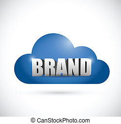 brand cloud illustration design