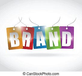 brand color tags illustration design