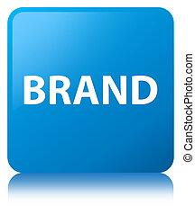 Brand cyan blue square button