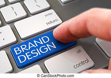 Brand Design - Modern Laptop Keyboard Concept.
