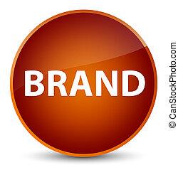 Brand elegant brown round button