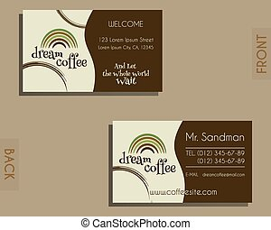 Template of identity and style for chocolate house restaurant cafe brand identity elements visiting card template for cafe restaurant and other food business colourmoves