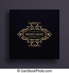 brand logo design with floral decoration
