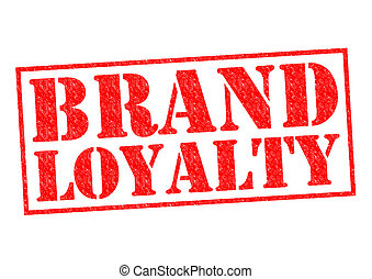 BRAND LOYALTY red Rubber Stamp over a white background.
