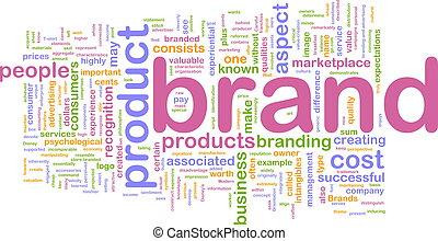 Brand marketing background concept