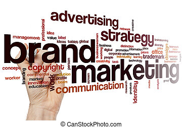 Brand marketing word cloud
