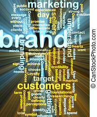 Brand marketing wordcloud glowing - Word cloud tags concept ...
