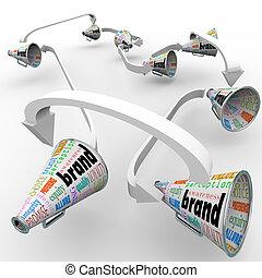 Brand Megaphones Bullhorns Connected Marketing Promotion -...
