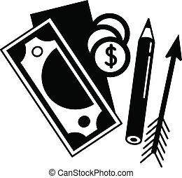 Brand money tool icon, simple style
