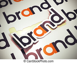 Brand Name - Company Identity - Sticker with the word brand...