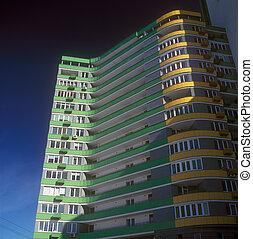 Brand new apartments. - Fragment of modern condominium...