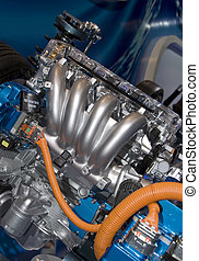 Brand new car engine.