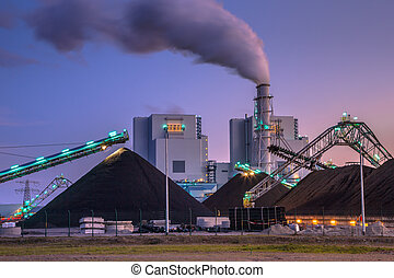 Brand new coal powered plant in Eemshaven - Coal plays a...
