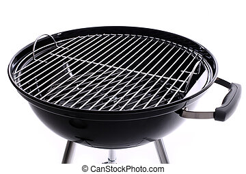 Brand new grill - A picture of a new black barbecue over ...