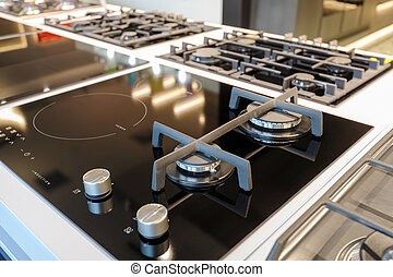 Brand new hybrid gas and electric induction stove