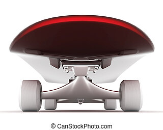 skateboard - brand new skateboard, pictured on a white...