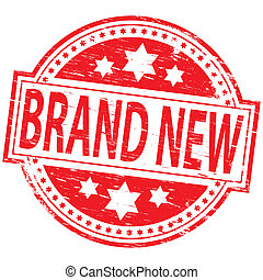 "Brand New Stamp - Rubber stamp illustration showing ""BRAND..."