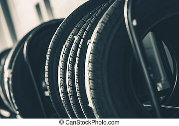 Brand New Tires Rack