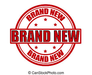Brand new - Stamp with text brand new inside, vector...