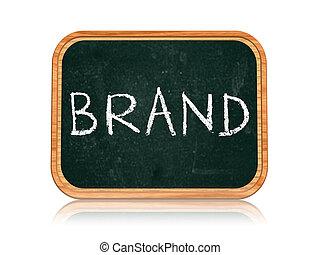 brand on blackboard banner