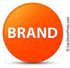 Brand orange round button