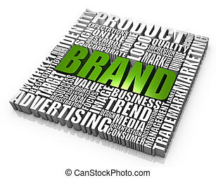 Brand - Group of brand related words. Part of a series of...