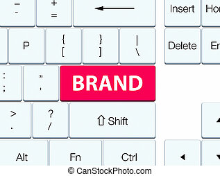 Brand pink keyboard button