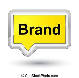 Brand prime yellow banner button