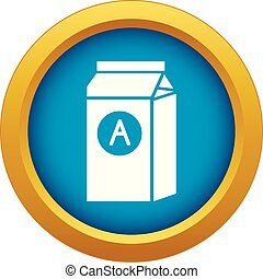 Brand product company icon blue vector isolated
