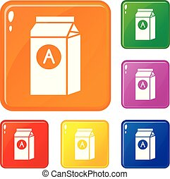 Brand product company icons set vector color